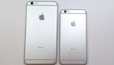The iPhone 6 vs iPhone 6 Plus photo above shows the difference in size.