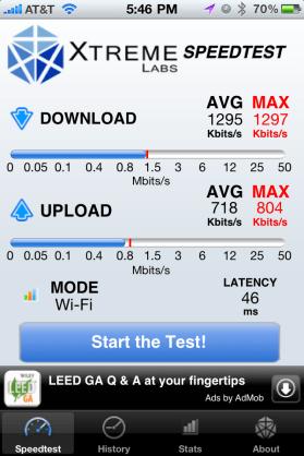 AT&T Wi-Fi hotspot at Starbucks in Leesburg, VA