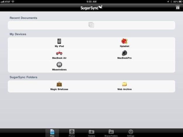 SugarSync iPad App