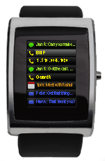 inPulse Blackberry watch