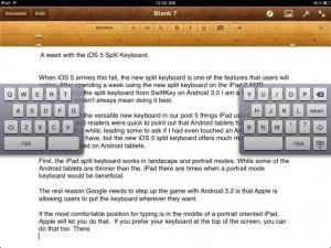ios 5 split keyboard