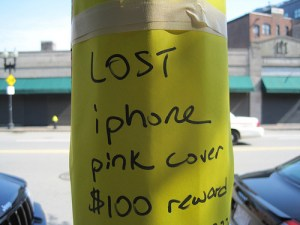 lost iphone poster