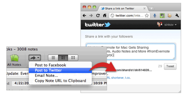 Evernote for Mac Sharing