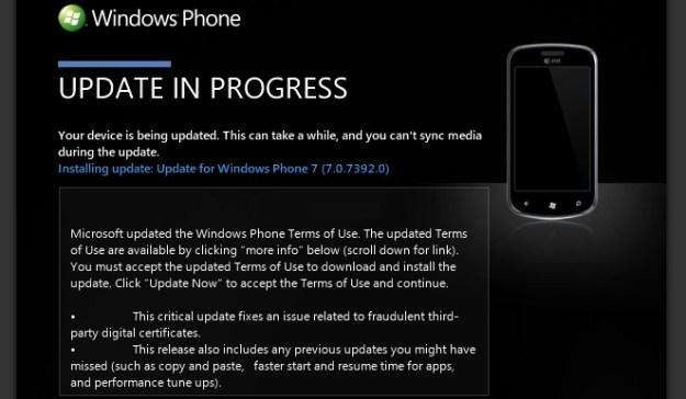 Windows Phone Mango Update