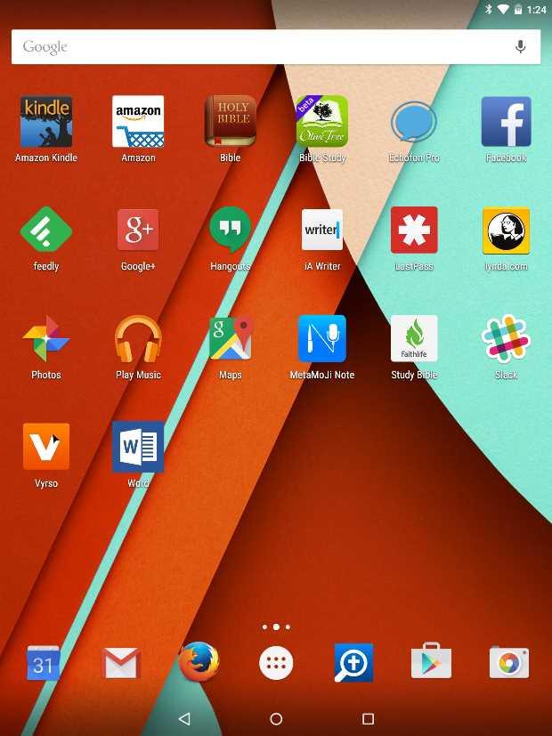 nexus 9 apps