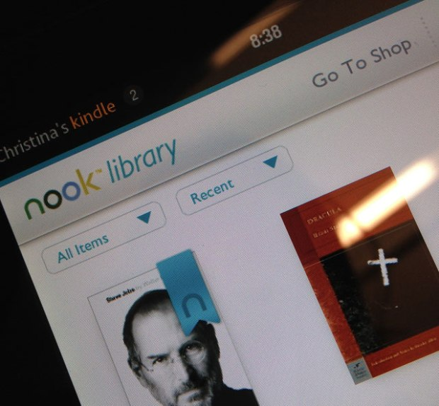 Nook app on the Kindle Fire
