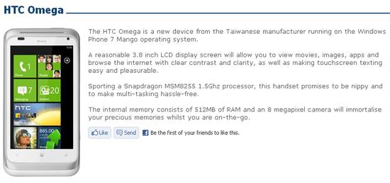 HTC Omega