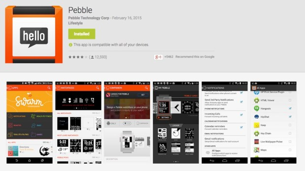 pebble android app