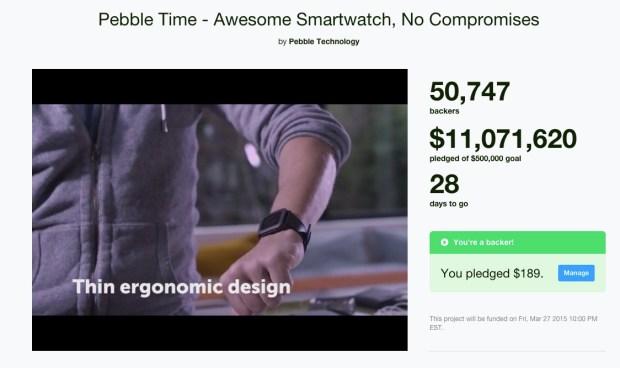 pebble watch kickstarter