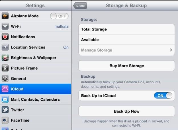 Buy more iCloud Storage