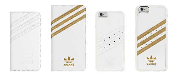 adidas iphone 6 plus case white gold