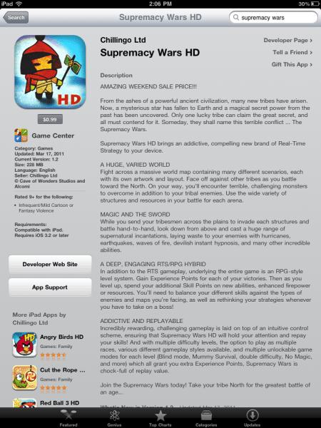 Supremecy Wars HD for iPad