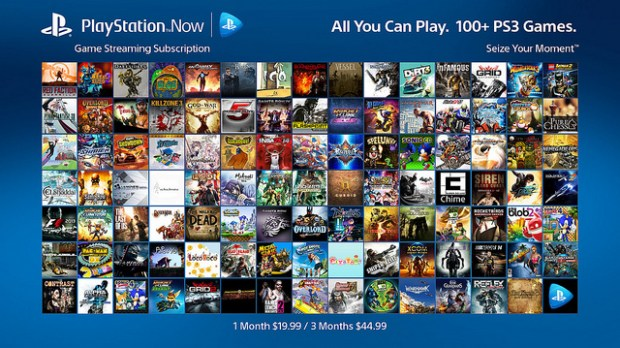 playstation now streamign service