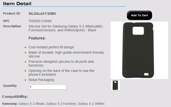 Samsung Galaxy S II Carrier Names