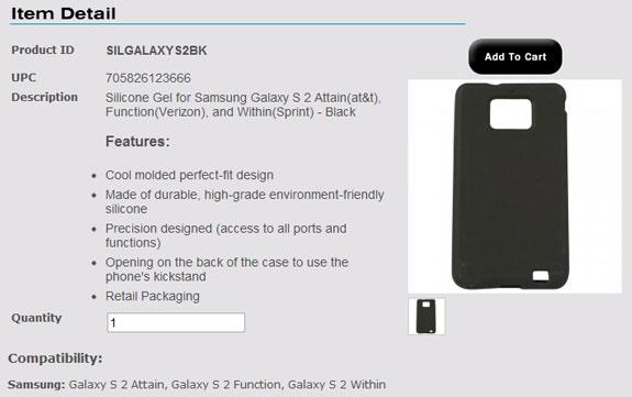 Samsung Galaxy S II Carrier Names