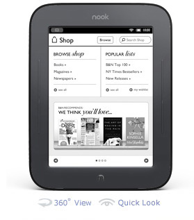 Nook Touch Screen e-ink Reader
