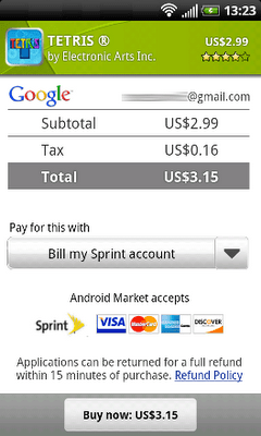 Sprint Carrier Billing