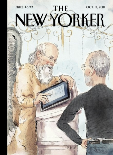 The New Yorker's Cover: Apple Co-Founder Meets St. Peter