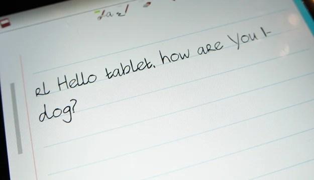 Handwriting recognized?