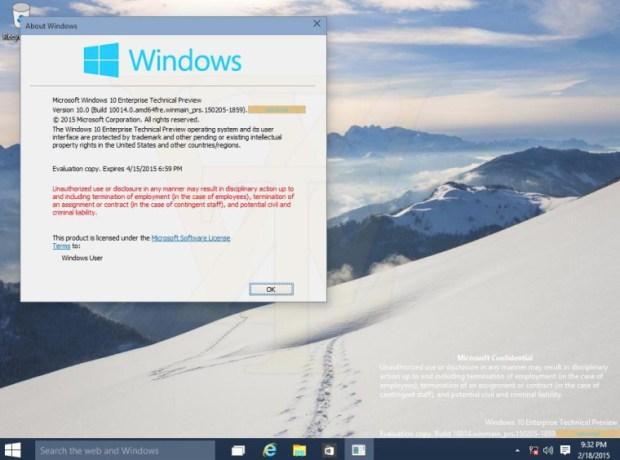 Windows 10 10014 Recycle Bin leaked by WZOR.