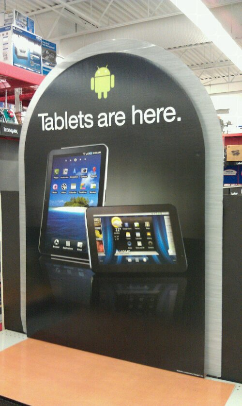 Tablets at Staples
