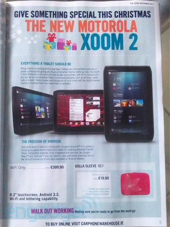 xoom 2 release date and price