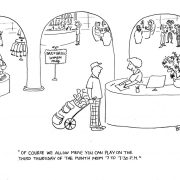 Golf cartoon for golf elitists