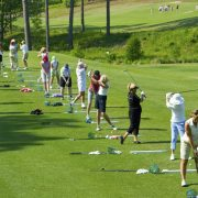 Image of women at golf school