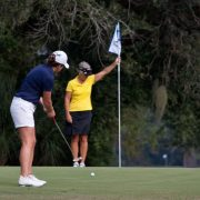 Image of women golfing