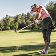 Image of Michelle Wie in Nike golf dress