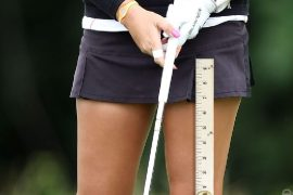 Image of short golf outfit