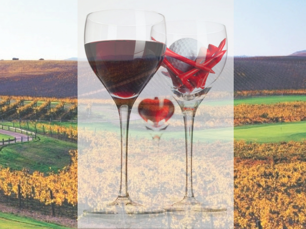 Image of Napa Valley wine and golf course