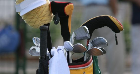 Image of golf clubs