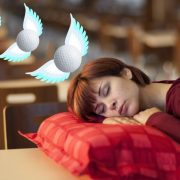 Image of woman dreaming of golf