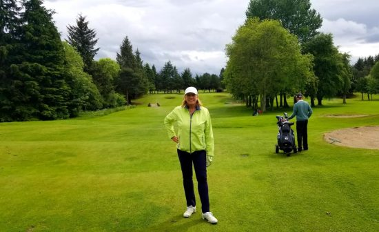 Image of author at Inverness Golf Club