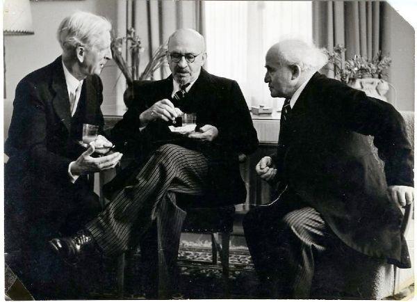 David Ben Gurion & Chaim Weizmann Original Photograph