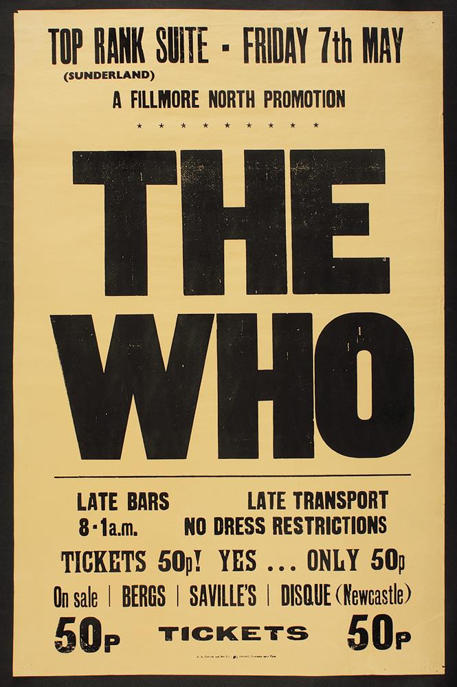 Lot Detail The Who 1971 Original Vintage Concert Poster