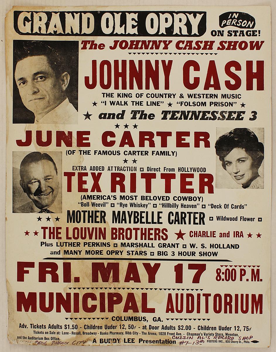johnny cash original 1963 concert poster