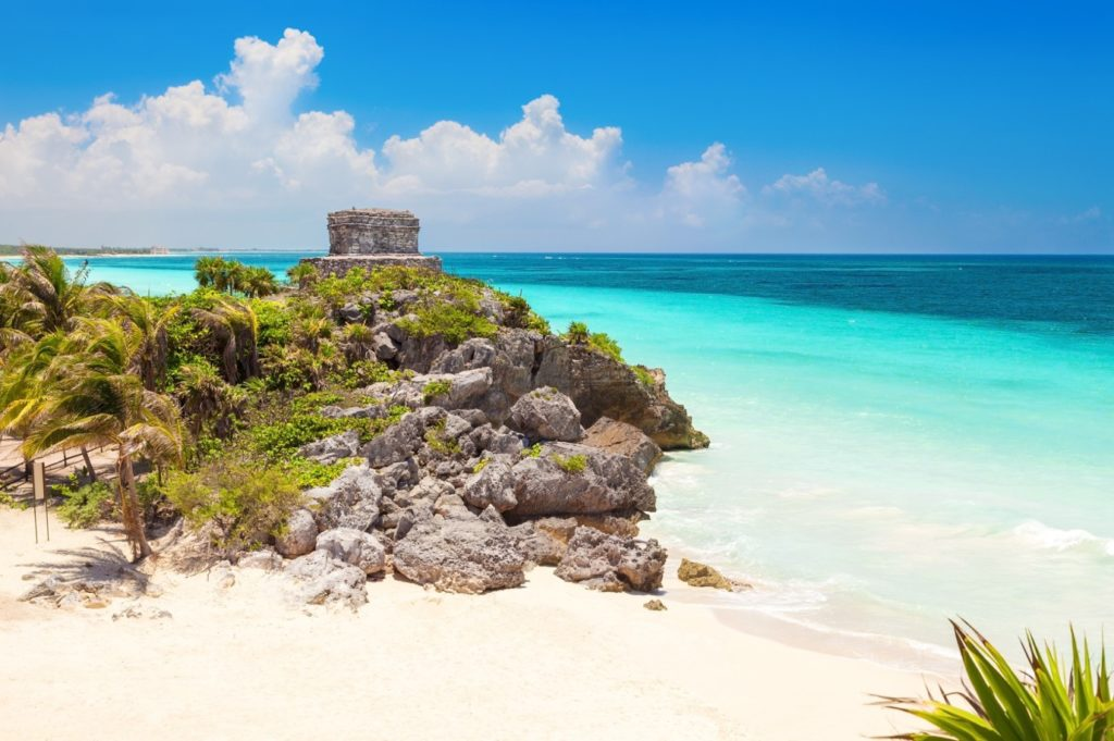 The Mayan Archaeological Site of Tulum is 1.5 hours from Cancun but it's worth visiting