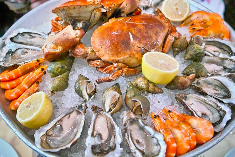 Oyster plate at seafood bars