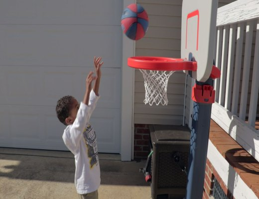 Basketball fun outdoors