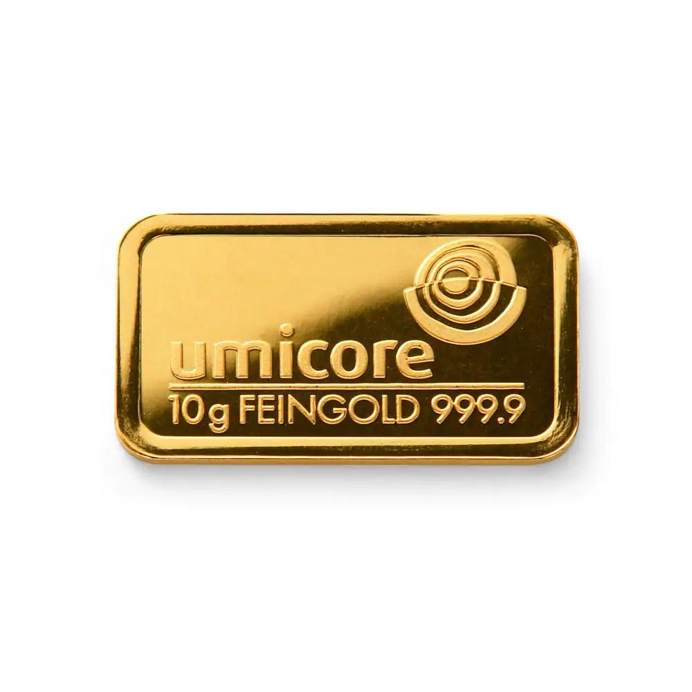 Umicore 10 gram goudbaar