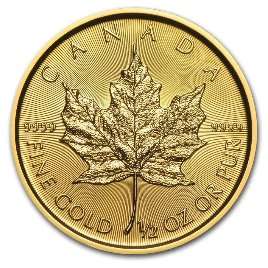 Maple Leaf 1/2 troy ounce gouden munt 2020