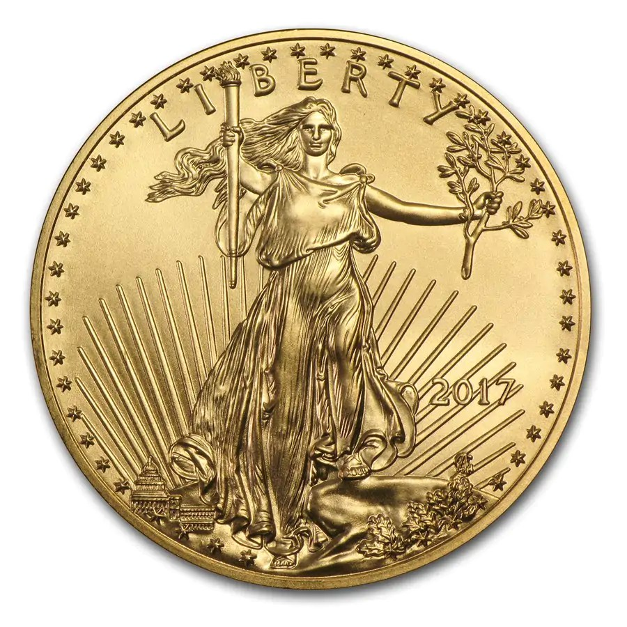American Eagle 1/4 troy ounce gouden munt 2017