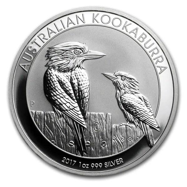 Kookaburra 1 troy ounce zilveren munt 2017