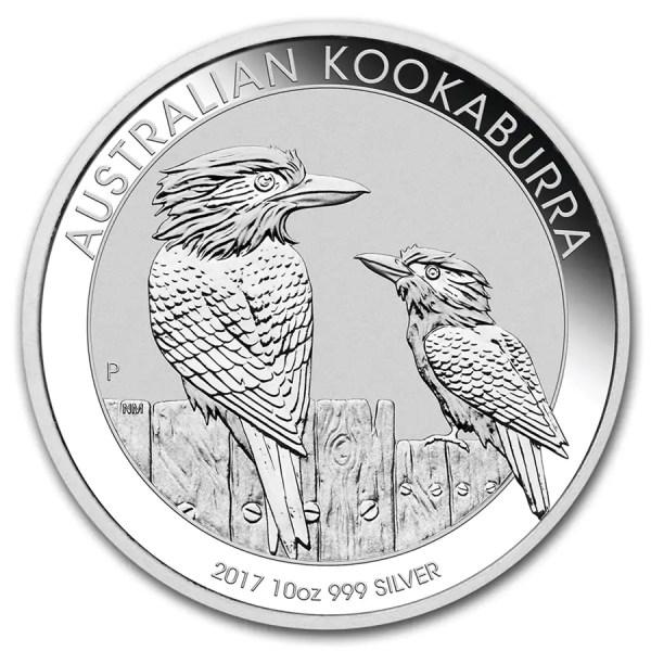 Kookaburra 10 troy ounce zilveren munt 2017