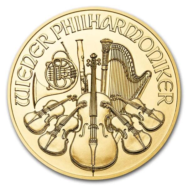 Philharmoniker 1/4 troy ounce gouden munt 2019