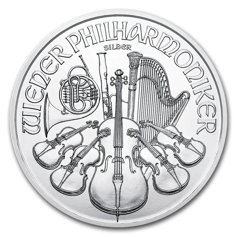 Philharmoniker 1 troy ounce zilveren