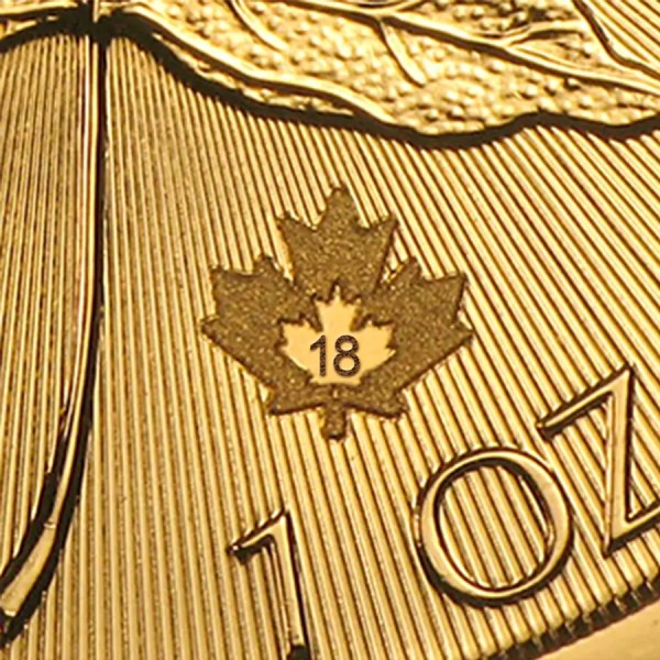 Maple Leaf 1 troy ounce gouden munt 2018