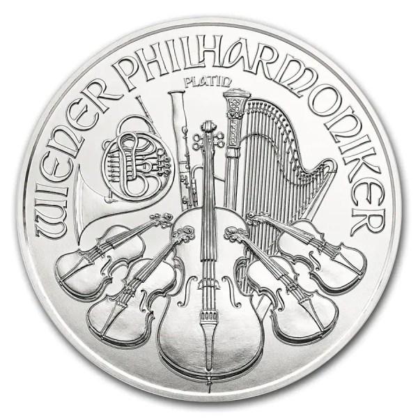 Philharmoniker 1 troy ounce platina munt